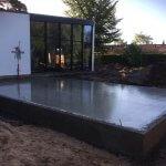beton støbning af terrændæk til hus
