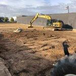jordarbejde og gravearbejde til parkeringsplads
