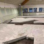 beton entreprenør igang med beton gulv
