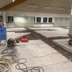 Beton gulv er skåret op i nordsjælland