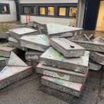beton stykker efter betonarbejde i nordsjælland
