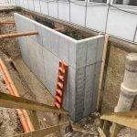 beton mur til kældertrappe