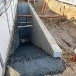 støbning af betontrappe og væg