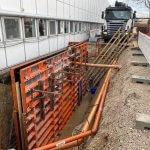 beton væg til kældertrappe