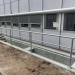 betonarbejde af kældertrappe