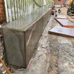Mur som er lavet i beton