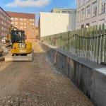 beton mur som er lavet færdig